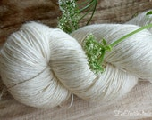 Victoriaanse Ramee met wol en garens van zijde / brei- en haak garens / ongeverfde garens, natuurlijke kleur / ongebleekte garens / garens voor het verven