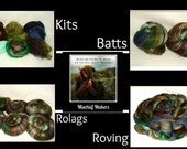 INSPIRED Mischief Makers Smooth Rolags, Batts, Rovings or Kits 4 oz