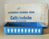 mint condition cathrineholm teal lotus pan in original box
