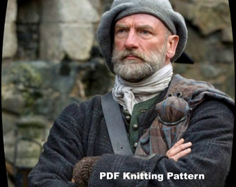 PDF Knitting Pattern, Outlander Scottish Highlands Tam, Scottish Bonnet Beret, Hand knit, hand felted