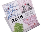 1/2 off SALE - 2016 Desk Calendar - Seasons