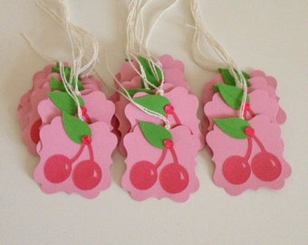 Pink Cherry Gift Tags Baby Shower Birthday Gift Tags (20CT)