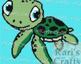 Baby Sea Turtle Afghan PDF Pattern Graph + Written Instructions - Instant Download