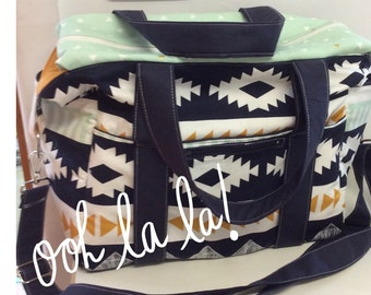 Art Gallery Arizona Nappy Bag with Zipper and Long Strap with new front pocket