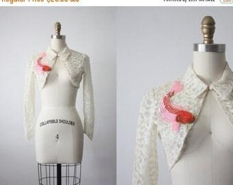 30% OFF SALE lace bolero / koi fish lace jacket