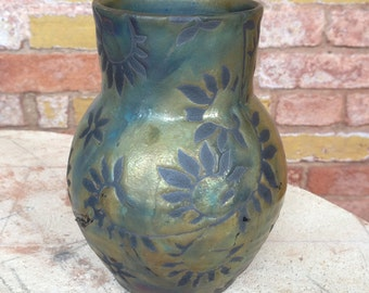 Small Copper Raku Vase