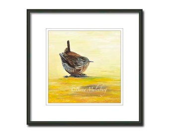 winter wren bird art S/N LE PRINT nature wildlife fine art