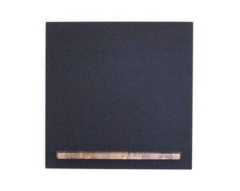 Modern Hanging Chalkboard - 20 X 20 Square with Blue Pine Wood Tray