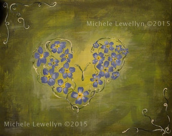 Forget-Me-Not Painting
