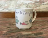 Vintage Mug Dance Is Everything Boynton 1980s Hippo Recycled Paper Products