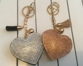 Large heart planner charm