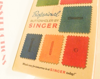 Singer Professional Buttonholer by Singer # V102878 Sims 4634 - Accessory Plate 171398 furnished 1973