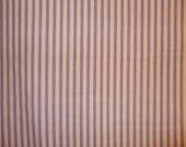 Lavender and White Stripe Quilting Fabric, Sheeting, Dressmaker Material