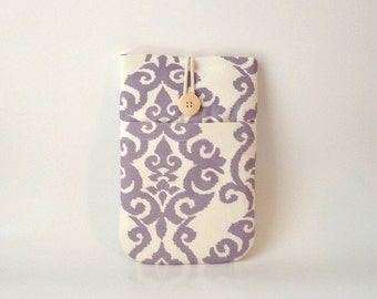 Purple Kindle Sleeve, Oasis, 6 to 7 inch models, Voyage Paperwhite, Fire HD HDX Cover, Kobo Padded Fabric Pouch Bag Womens Lavender Lilac