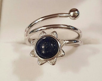 Sterling Silver and Lapis Lazuli Ring Size 6