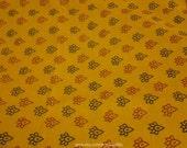 Chrome Bagh Print Fabric, Sari Saree, Floral Print Fabric, Indian Hand Printed Fabric, Organic Ethnic Indian Fabric, Block Print Fabric