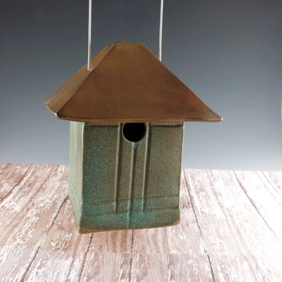 Mission Style Bird House Pottery Craftsman By Botanic2ceramic