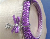 Purple Kitten Collar with Tiny Mouse Charm