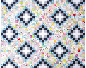 Modern Patchwork Quilt - Irish Chain Quilt