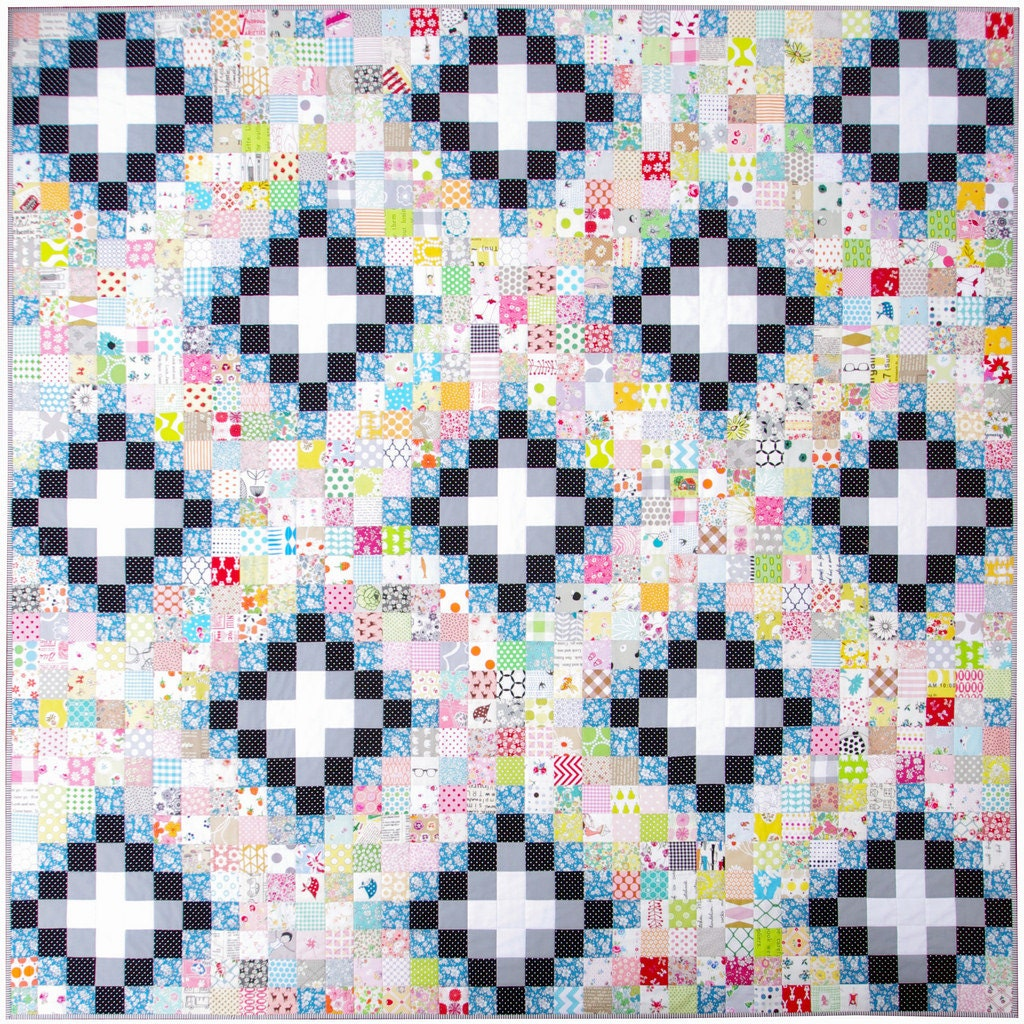 Modern Patchwork Quilt Irish Chain Quilt