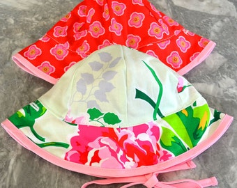Roses are Red Sunhat, baby sunhat, girls sun hat, toddler summer hat, girls summer hat, baby sun hat, summer hat, baby summer hat