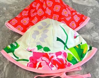 Roses are Red Sunhat, baby sunhat, girls sun hat, toddler summer hat, girls summer hat, baby sun hat, summer hat, baby summer hat