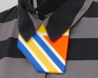 Collar Necklace Ceramic Necklace - big necklace, geometric necklace, bib necklace, handmade necklace by StudioLeanne