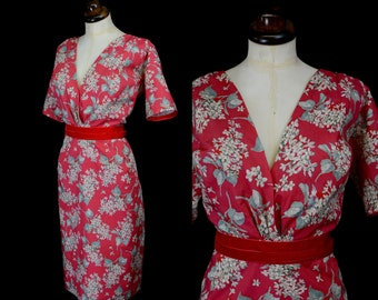 Liberty Print 50s inspired wiggle dress - Loren - Size Large - FREE SHIPPING WORLDWIDE