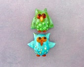 Owl Beads - Lampwork Glass Creation SRA