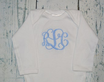 Personalized Shirt or bodysuit - Custom You choose font and Color - Monogram Baby Outfit