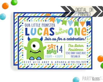 Monster Birthday Invitation | Digital or Printed | Little Monster Invitation | Monster Invitation | Monster Invite | Monster Party Invite