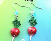 Harry Potter Luna Lovegood Radish cute Earrings collectible vegetable handpainted