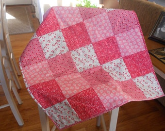 Quilted Baby Blanket...Pink Baby Quilt
