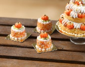 Pumpkin Genoise Pastry for Autumn/Fall - 12th Scale French Miniature Food