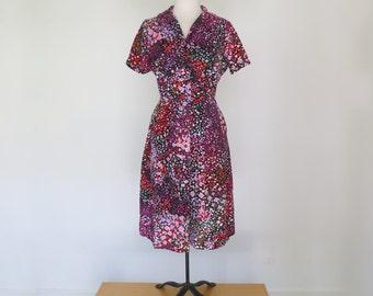 ROSE GARDEN // shelton stroller 50s or 60s graphic day dress