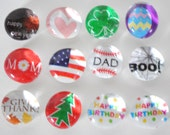 small HOLIDAY SET 1 magnets or push pins - 2016 perpetual calendar, easter, valentines, christmas, thanksgiving, birthday, new year