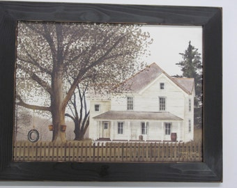 Farm House Wall Decor,Country Farm House,Grandma's House,Tire Swing,Distresed Handmade Frame,Billy Jacobs,181/2x141/2