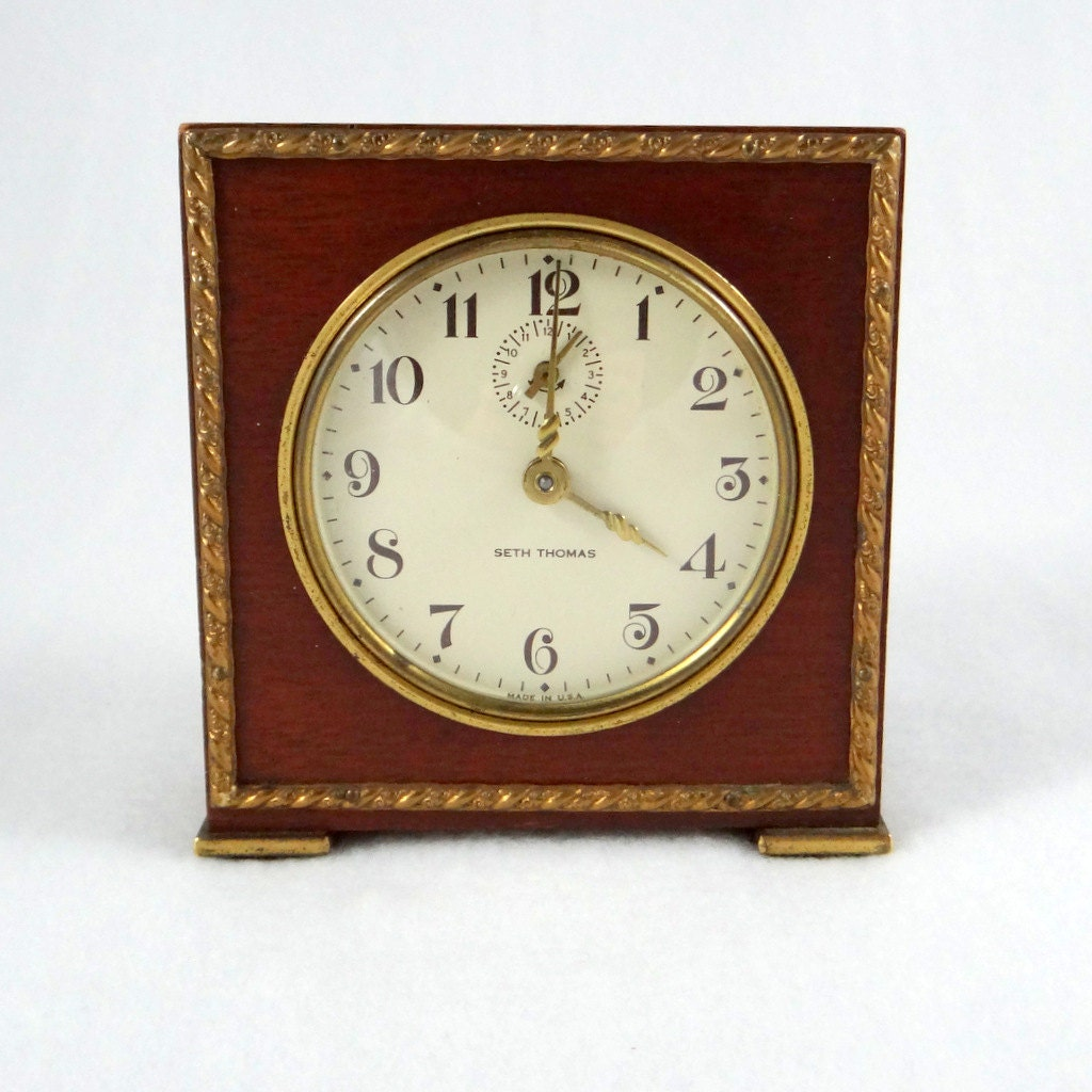 Orig 28 00 1948 Seth Thomas Severn Alarm Clock Wind Up