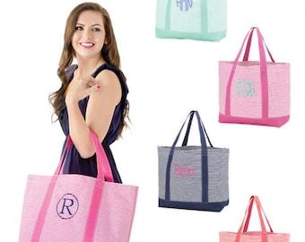 Mnogrammed tote bag , Monogrammed beach bag