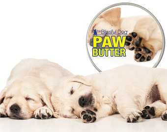 DOG PAW BUTTER All Natural Handcrafted Salve for Dry, Rough Dog Paw Pads Big One Pound 16 oz. Tin with Paw Label in Gift Bag