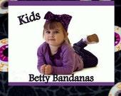 KIDS...Betty Bandana in Spiderwebs and Eye Balls Print