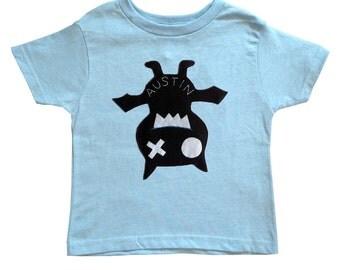 Keep Austin Weird! - We Love Texas! - Hanging Bat Light Blue Toddler T-Shirt