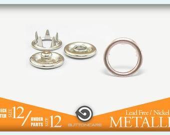 Size 12 7.2mm   Metal Press N Snap Popper