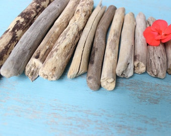 DIY Driftwood Pieces , Graduated straight drift wood for Crafts