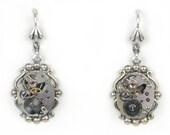 Steampunk Vintage Watch Movement Earrings