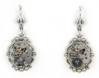 Steampunk Vintage Watch Movement Earrings