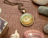 Sea Bunny Necklace, Sea Bunny  Pendant, Sea Bunny  Jewelry, Nautical Necklace, Animal Art, Animal Jewelry, Kids Jewelry Children - Sea Bunny