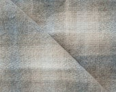 Reserved for ambuesta - Hombre' Beige - Natural - Large Plaid Wool Fabric Felted