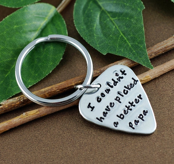 Guitar Pick Keychain for Grandpa | Dad | I couldn't Pick a Better Pop Keychain | Father's Day Keychain | Grandpa Keychains | Gift for Dad