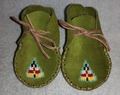 Natve American Hand Made Baby Moccasins